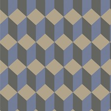 Blue and Black Print Wallcovering by Cole & Son
